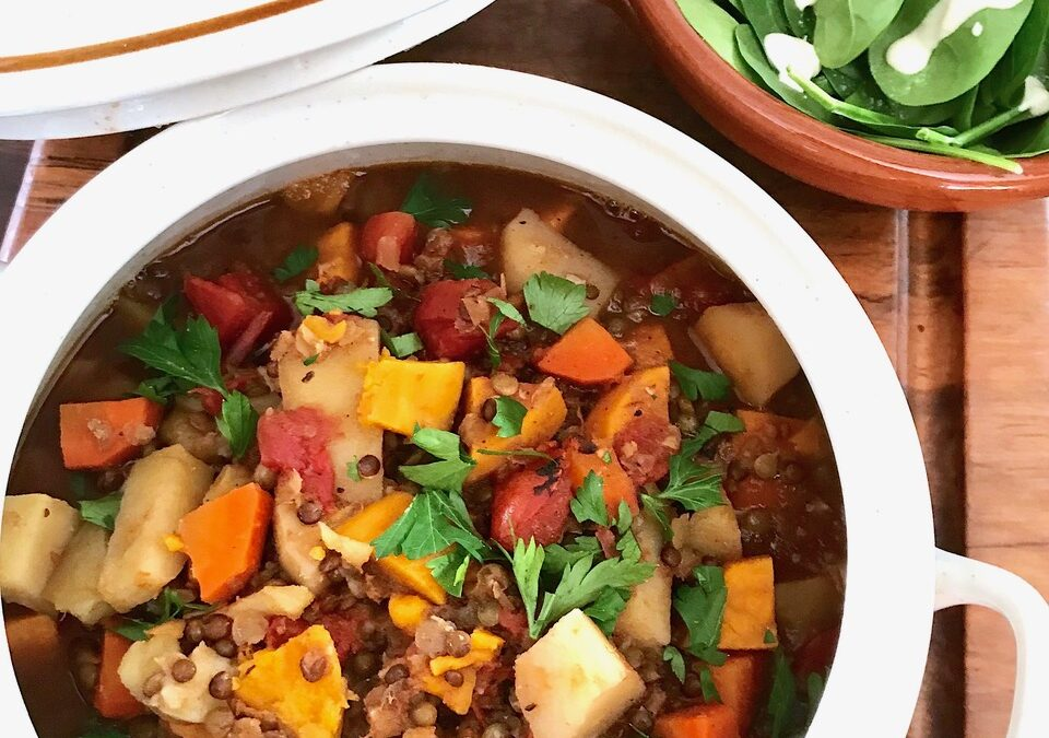 Root Veggie and Lentil Trio Stew from the Jazzy Vegetarian